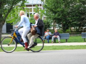bicycle - older couple-Amsterdam