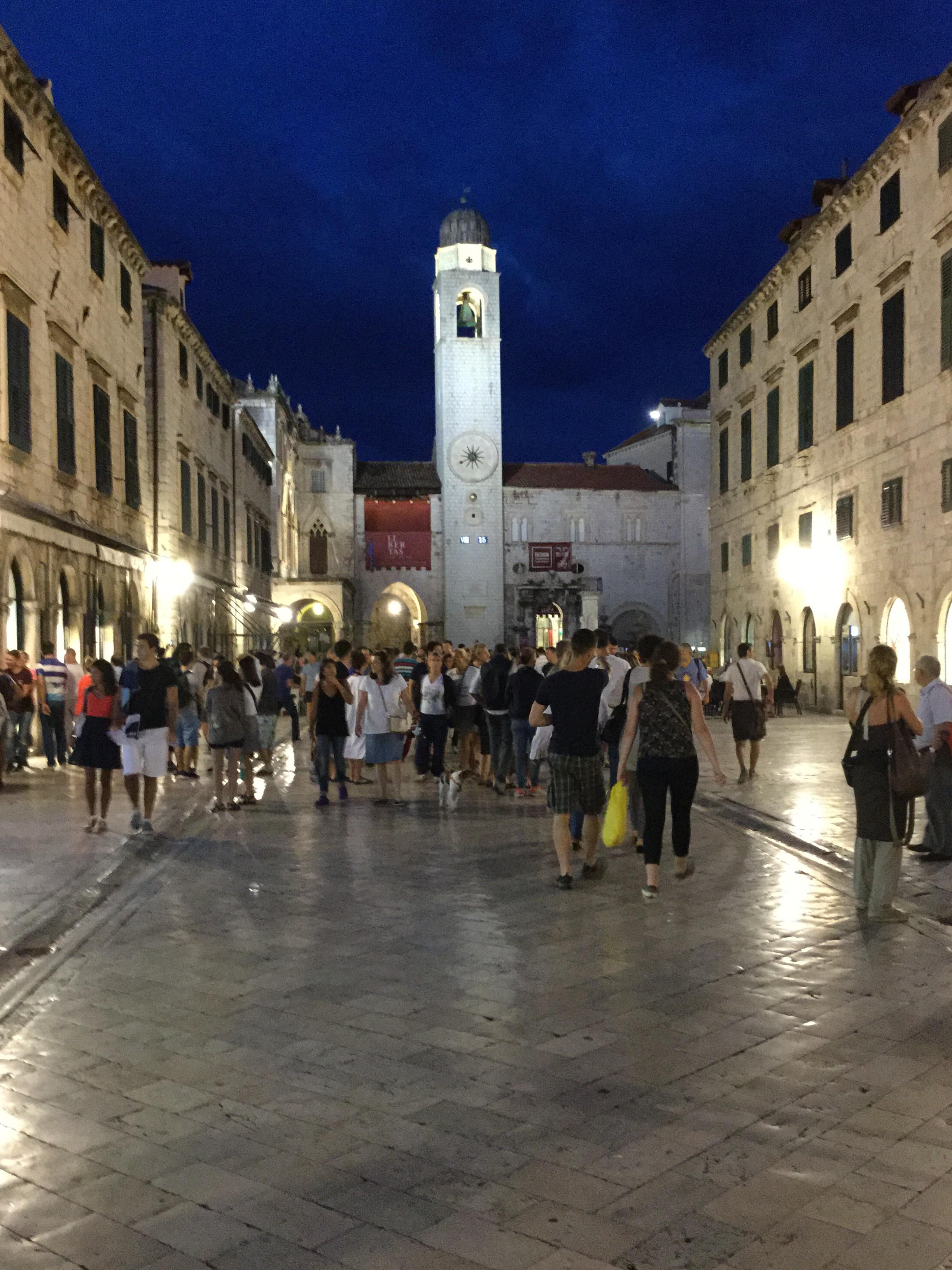 Stradun at night, Dubrovnik